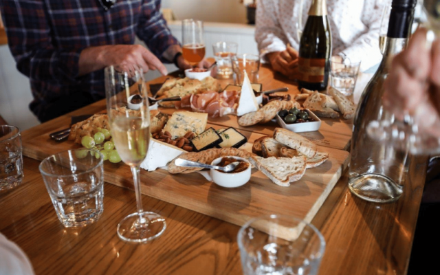 Fine wine, fine food and fine company at Scott Base Vineyard on a Crafted Journeys Central Otago tour